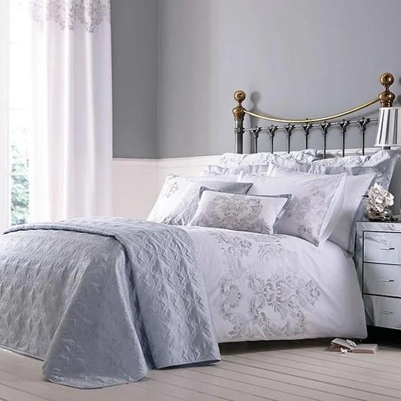 Nina Silver Bed Linen Collection  Dunelm