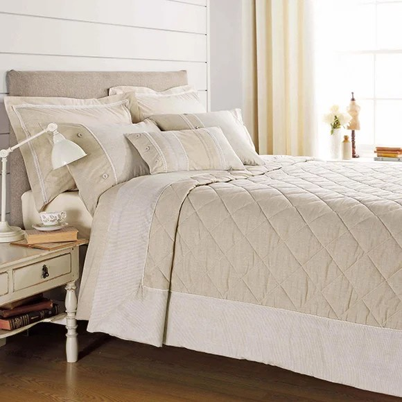 Millie Natural Bed Linen Collection  Dunelm