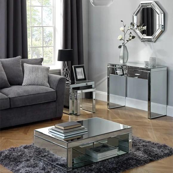 Venetian Mirrored Living Room Collection  Dunelm
