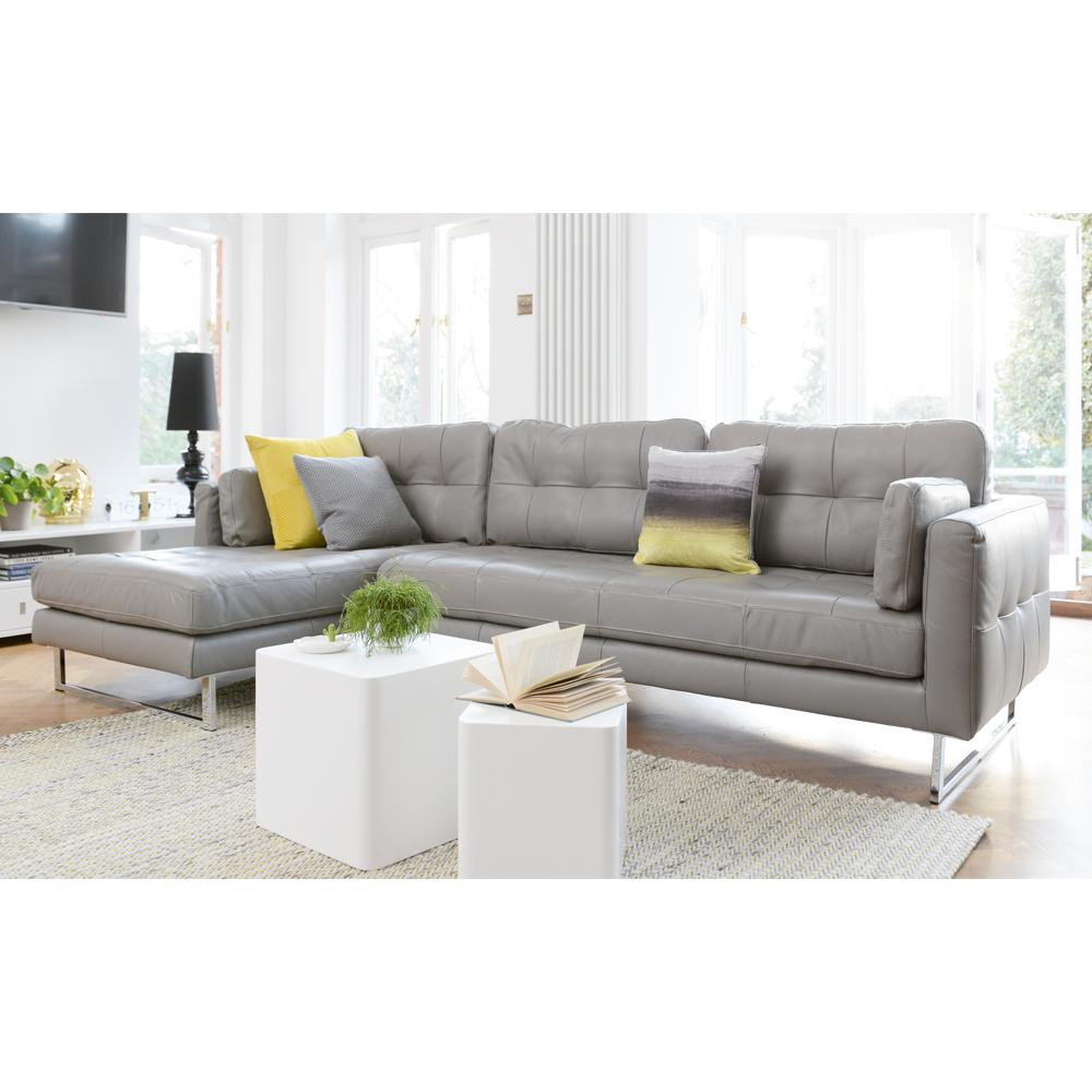 paris ii left hand facing four seater chaise sofa grano leather dove grey dwell 2 899