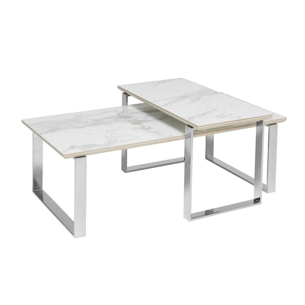 span marble ceramic coffee table set white dwell 499