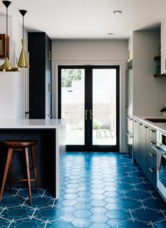 cement tile kitchen paula deen table best modern floors design photos and ideas dwell vintage lover sarah benson worked with local firm bright designlab to gently update her 1925 home