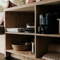 Lowes White Kitchen Sink Flatware 最佳60 现代厨房设计照片和想法 居住 亚博提款 大部分内部 Including The Walls And Storage 由智利松木胶合板制成