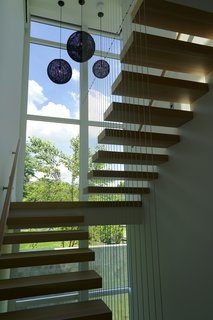 Best 60 Modern Staircase Design Photos And Ideas Page 4 Dwell | Staircase Window Design Exterior | Round Shape Window | Car Parking | 2Nd Floor House Front Elevation | Section Window | Corner Window
