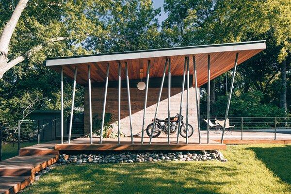 modern outdoor small patio porch deck