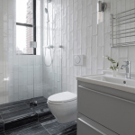 Photo 1 Of 217 In Bath Subway Tile Photos From This 350 Square Foot Nyc Apartment Has Plenty Of Room To Entertain Dwell