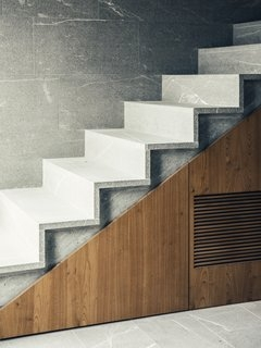 Best 60 Modern Staircase Concrete Tread Design Photos And Ideas   Wood And Concrete Stairs   House   Internal   Glass   Small Space   Pinterest