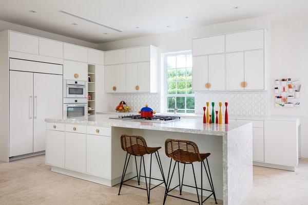 modern kitchen travertine floors