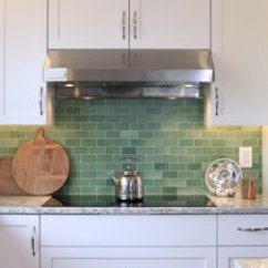 Backsplashes Kitchen German Made Cabinets Best Modern Subway Tile Design Photos And Ideas At This Passive House Certified Home In Oregon The Backsplash Is Composed Of