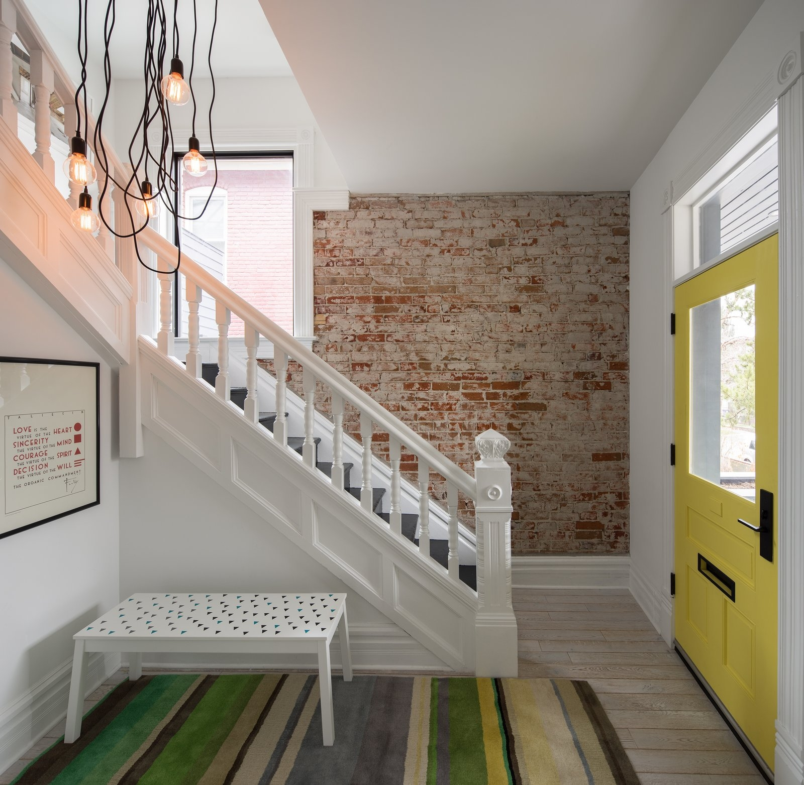 Photo 1 Of 14 In Thole Residence By Design Platform Dwell | Staircase Exterior Wall Design | Commercial | Entrance Ceiling | Interior | Modern | Boundary Wall