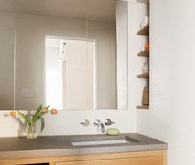 Bath Room The Master Bathroom In This Gene Leedy Designed Home In Florida Is Mostly In Modern Bathroom Vanities