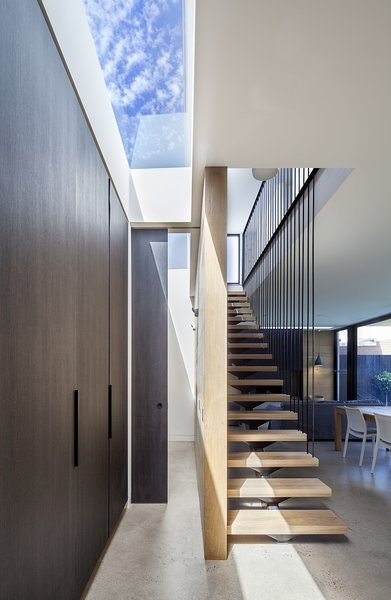 Photo 4 Of 11 In A Streamlined Addition Serves A Family Of Four In | Prefab Oak Stair Treads | Hardwood Flooring | Wood Flooring | Wood Stair | Solid Oak | Risers
