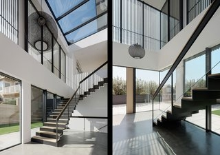 Best 60 Modern Staircase Glass Railing Design Photos And Ideas | Modern Staircase Glass Railing Designs | Commercial Building | Glass Panel Wooden Handrail | Side Glass Rail | Glass Stair | Modern Aluminium