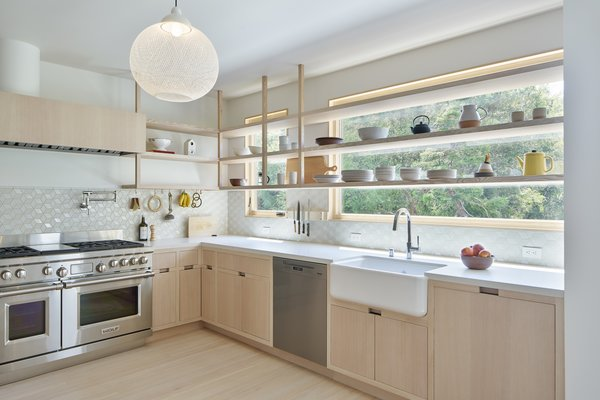 white appliances kitchen marble countertops best 60 modern design photos and ideas dwell customized whitewashed woodwork with caesarstone fresh concrete counters a geometric health tile little diamond backsplash