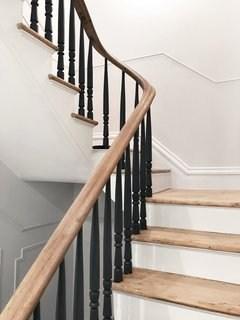 Best 60 Modern Staircase Wood Railing Design Photos And Ideas | Modern Black Stair Railing | Horizontal | Aluminum | Modern Style | Dark Grey | Matte Black