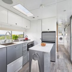 Metal Cabinets Kitchen Islands With Granite Top Best 4 Modern Design Photos And Ideas Dwell Taking Cues From Boats The Founders Of Living Vehicles Used Maintenance Free