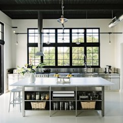 Metal Cabinets Kitchen Curtain Panels Best 4 Modern Design Photos And Ideas Dwell The Island Is Topped With A Five By 10 Foot Slab Of