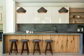 modern kitchen concrete backsplashes
