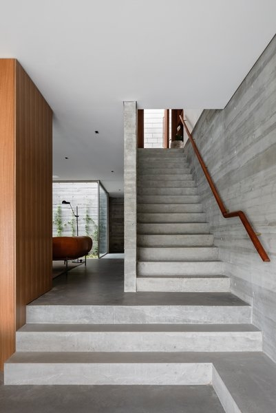 Best 60 Modern Staircase Concrete Tread Design Photos And Ideas | Wood Stairs Over Concrete | Stair Stringers | Composite Decking | Cement | Front Porch | Stoop