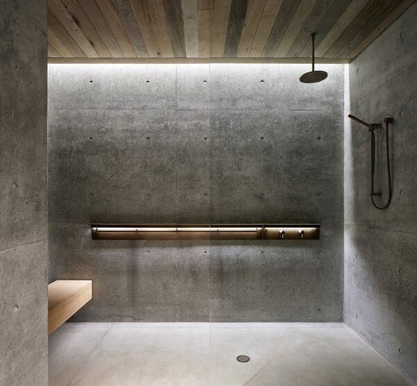 showers concrete floors design photos