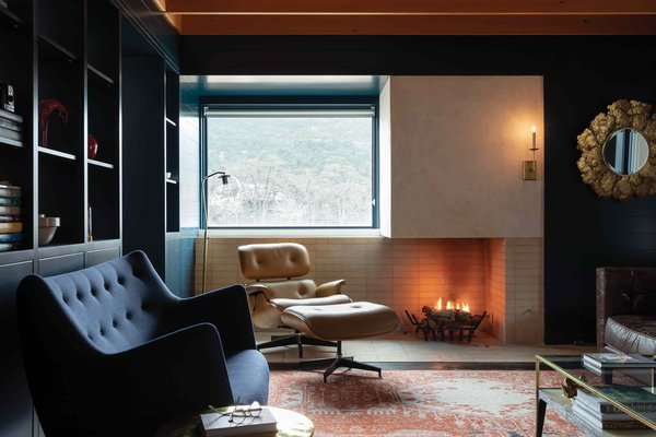 Best 60 Modern Living Room Wood Burning Fireplace Design Photos And Dwell
