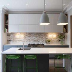 Kitchen Counter Islands For Kitchens Photo 8 Of 20 In Best Modern Counters From A London Town Pendant Lighting Light Hardwood Floor White Cabinet Brick Backsplashe Range