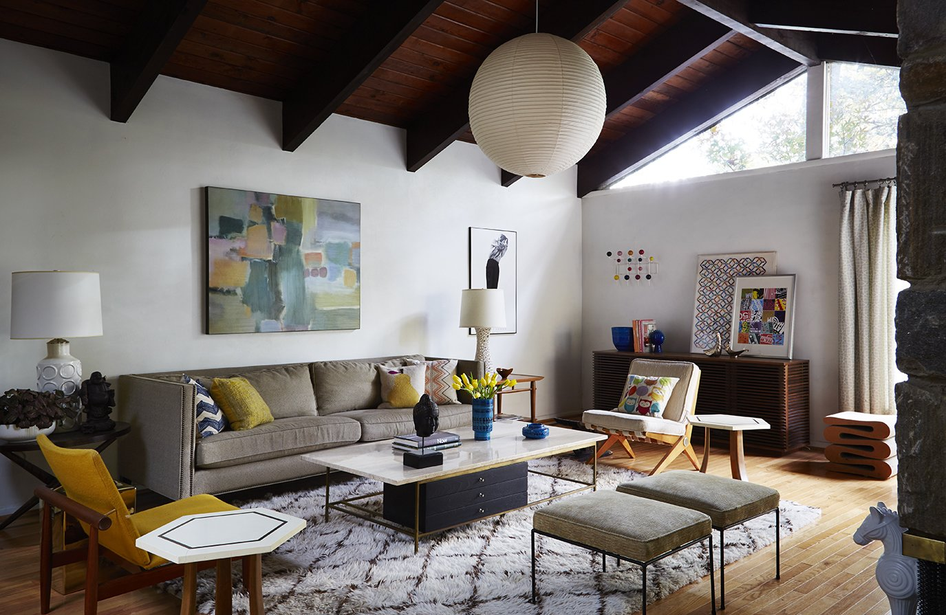 mid century modern living room awesome wallpaper how to update a midcentury gem dwell