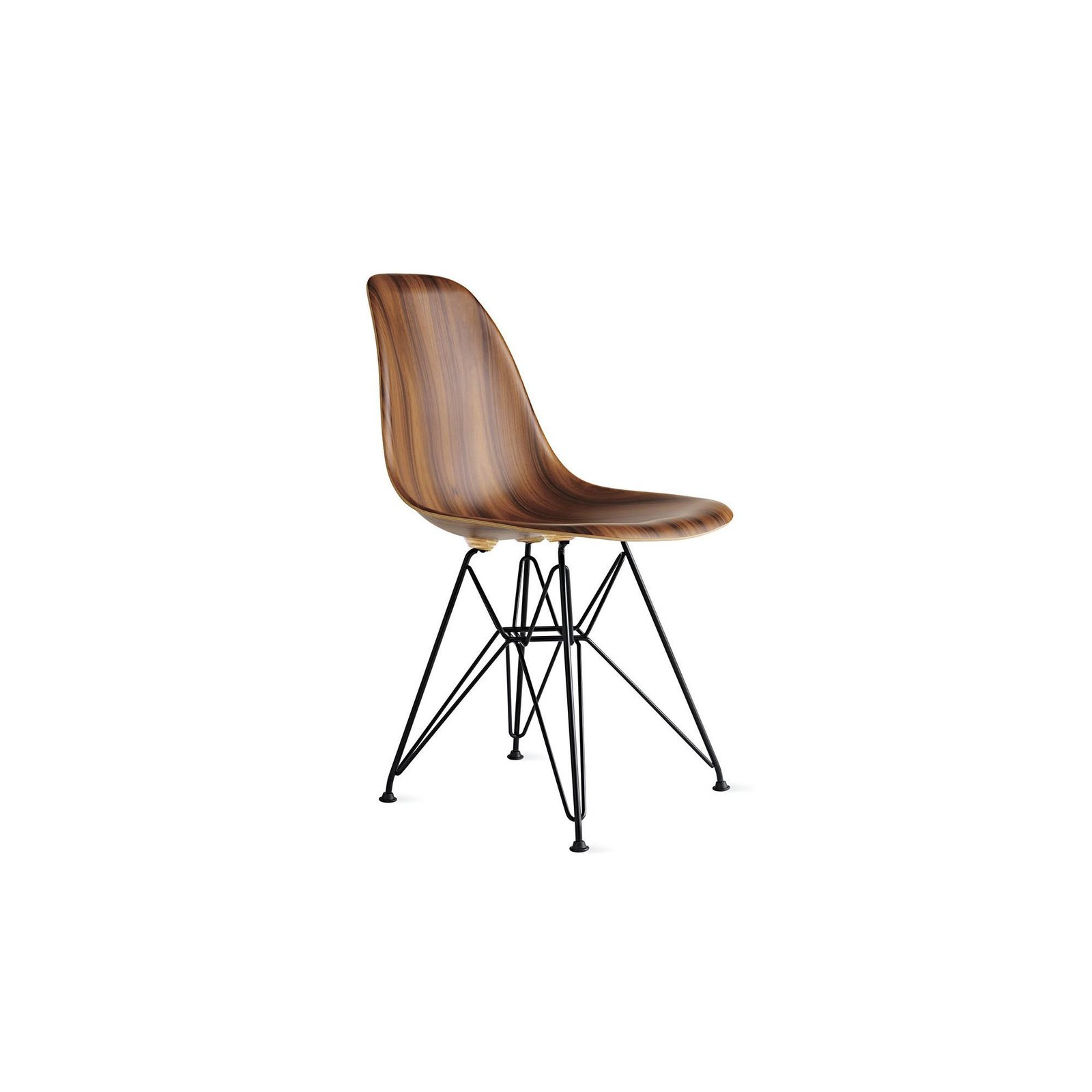 eames molded wood side chair tall deer blind chairs dwell