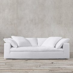 Cloud Track Arm Leather Sofa Motion And Loveseat Sofas Like Restoration Hardware Decorist I Thought ...