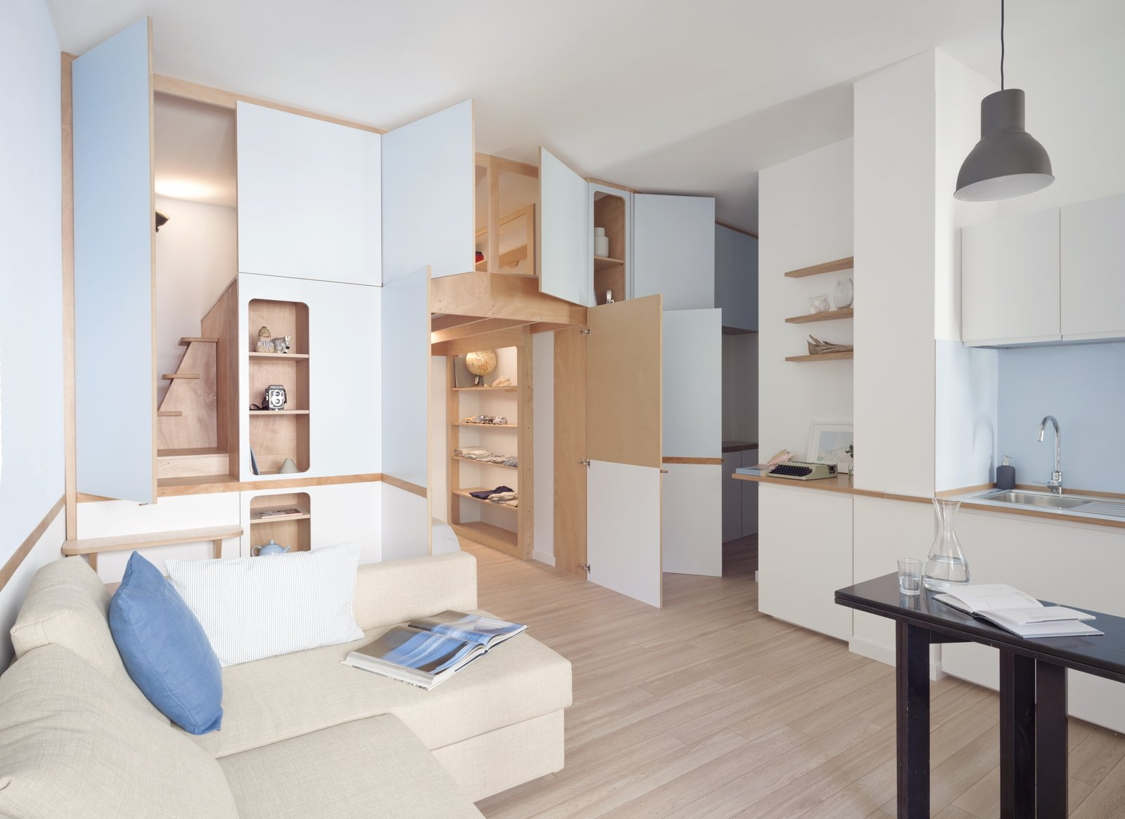 Mobihome Muebles A Tiny Apartment In The Italian Riviera Takes Cues From
