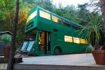 Double-decker Bus Offers Eclectic Glamping