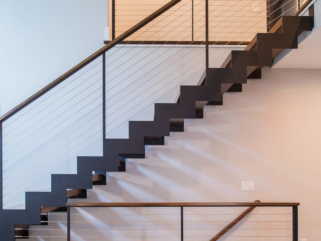 Photo 3 Of 4 In Zig Zag Stairs Dwell   Zig Zag Staircase Design   Stringer   Dual Staircase   Chain Staircase   Sawtooth   Steel