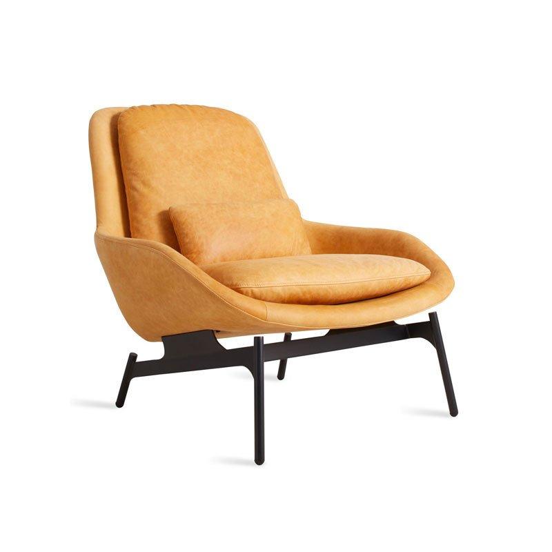 lounge chair leather gunlocke value blu dot field by dwell