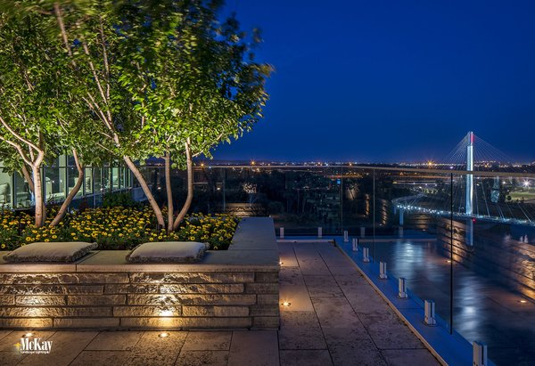 downtown rooftop garden terrace modern