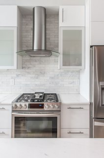 kitchen backsplash design porcelain sinks 50 ideas modern backsplashes dwell the white cabinets and traditional subway tile in marble make for a timeless combination this