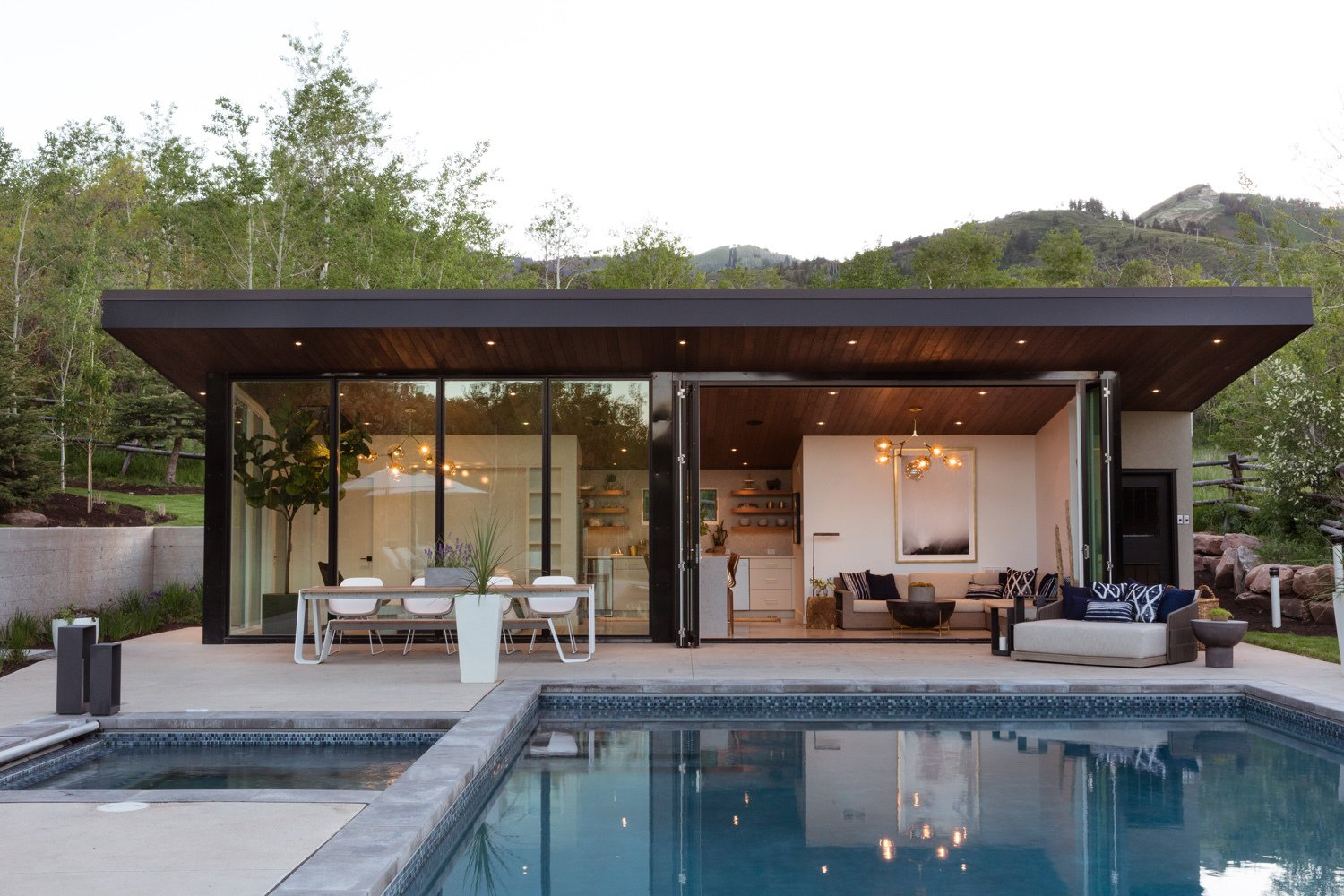 This CanDo Pool House Cleverly Goes From Private to Party Mode  Dwell