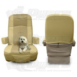motorhome captain chair seat covers modern circle rv designer class a gripfit padded trailer camper horse tire care
