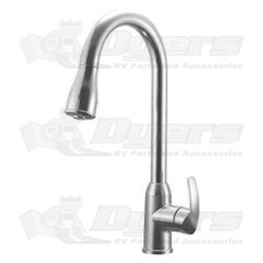 Rv Kitchen Faucets Black Island Dura Faucet Single Handle Pull Down
