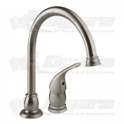 Rv Kitchen Faucets Backsplash Home Depot Dura Brushed Satin Nickel Pedestal Goose Neck Faucet