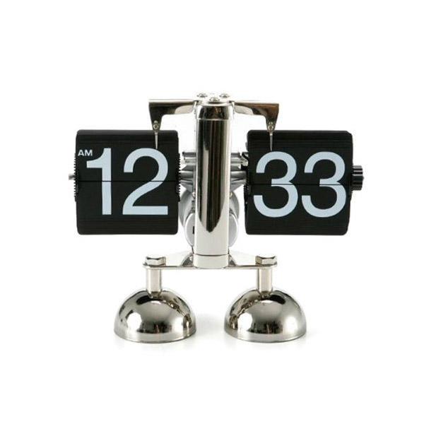 Metallische Flip Clock Uhr Tischuhr RetroStil fr Haus