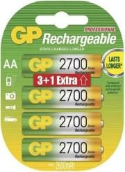 RECHARGEABLE BATTERY GP R6 AA 2700MAH NIMH 4PCS