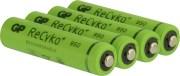 RECHARGEABLE BATTERY GP R03/AAA GP RECYKO + 1000 SERIES 950MAH 4PCS