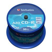 VERBATIM CD-R 80MIN - 700 MB 52X AZO CRYSTAL CAKEBOX 50PCS