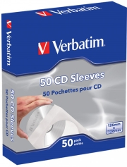 VERBATIM 49992 PAPER CD ENVELOPE 50PCS