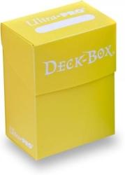 BRIGHT YELLOW SOLID DECKBOX POKEMON / VANGUARD / WOW / YGO / MTG / BUDDY FIGHT / DUNGEONS