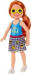 MATTEL BARBIE CLUB CHELSEA MINI GIRL DOLL - JUST BE YOU TEE ORANGE HAIR GIRL DOLL