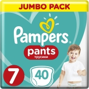 PAMPERS PANTS NO7 (17KG+) 40 ΤΕΜ