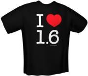 GAMERSWEAR I LOVE 1.6 T-SHIRT BLACK (XXL)