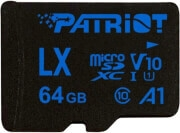 PATRIOT PSF64GLX11MCX LX SERIES 64GB MICRO SDXC V10 A1 CLASS 10 WITH SD ADAPTER