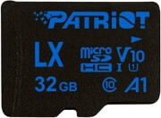 PATRIOT PSF32GLX11MCH LX SERIES 32GB MICRO SDHC V10 A1 CLASS 10 WITH SD ADAPTER